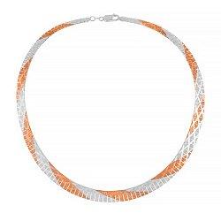Серебряная цепь с позолотой, 5 мм 000026059