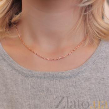 Серебряная цепочка Ребекка с позолотой, 2,5мм 000082881