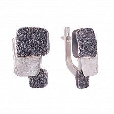 Серебряные серьги с чернением Рипсимия