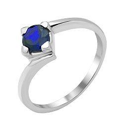 Серебряное кольцо с сапфиром 000134848