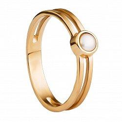 Золотое кольцо Амфибия с жемчугом
