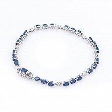 Золотой браслет Фелисити с сапфирами и бриллиантами