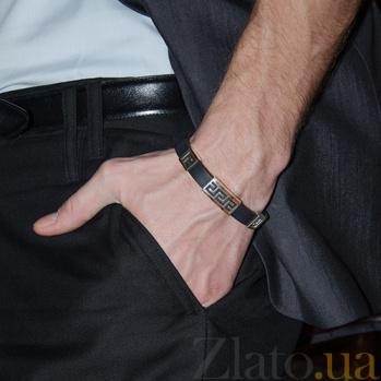 Серебряный браслет с золотыми вставками Орнамент BGS--554/3б