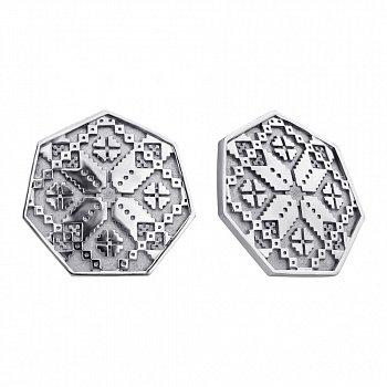 Серебряные серьги Needlework 000022442