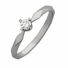 Кольцо из белого золота с бриллиантом Solo