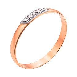 Обручальное кольцо из комбинированного золота с бриллиантами 000123554