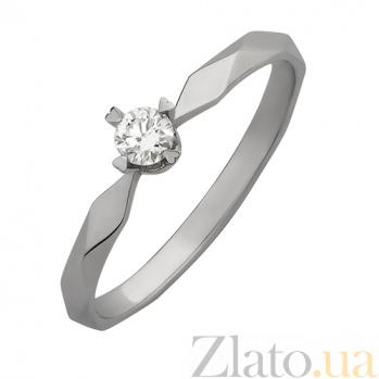 Кольцо из белого золота с бриллиантом Solo 190915К