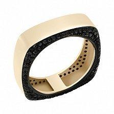 Кольцо в желтом золоте Стар с фианитами