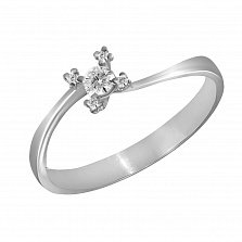 Кольцо из белого золота Весна с бриллиантами