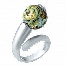 Серебряное кольцо Флорена с цветной эмалью