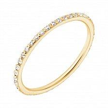 Кольцо в желтом золоте Аюна с фианитами