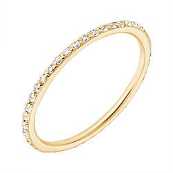 Кольцо в желтом золоте Аюна с фианитами 000031834