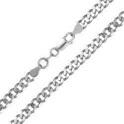 Серебряная цепь с родированием, 6 мм 000071889