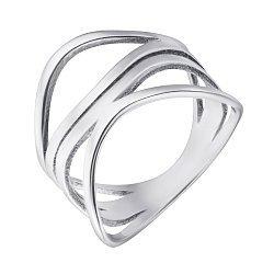 Серебряное кольцо с ажурной широкой шинкой 000091822