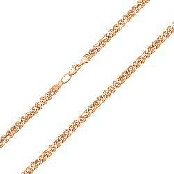 Цепочка из красного золота с алмазной гранью, 3мм  000007403
