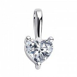 Золотой подвес Бриллиантовое сердце