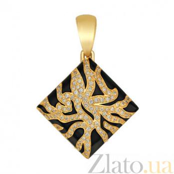 Кулон Дикая сказка из желтого золота VLT--Т3321-1
