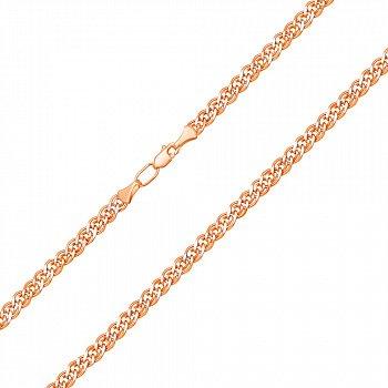 Ланцюжок із червоного золота з алмазною гранню 000007403