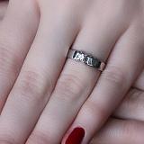 Серебряное кольцо Атриум с цирконием
