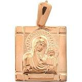 Золотая ладанка Богородица с Сыном