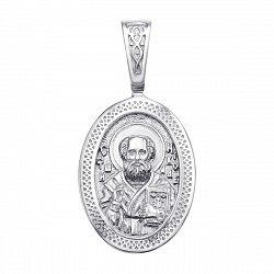 Серебряная ладанка Святой Николай 000117902