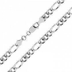 Серебряная цепь с родированием, 6 мм 000027658