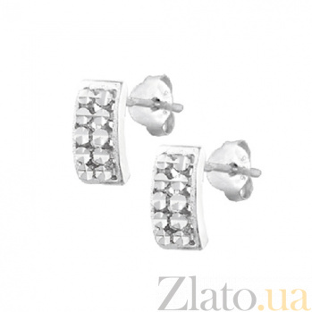 Сережки из серебра Долли SLX--С2/377