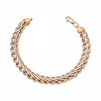 Золотой браслет в комбинированном цвете 000149925