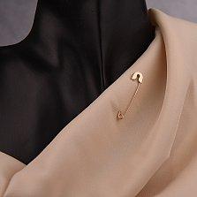 Золотая булавка Константа классической формы