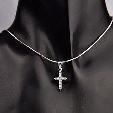 Серебряный крестик Истина с фианитами