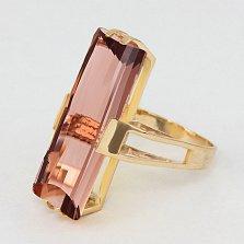 Кольцо из красного золота с раухтопазом Агапия