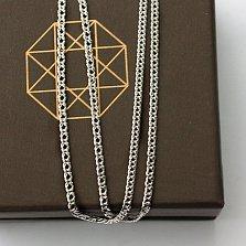 Серебряная цепочка родированная Ромб,1,9мм