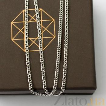 Серебряная цепочка родированная Ромб,1,9мм 000017313