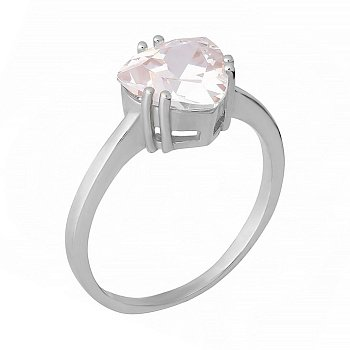 Серебряное кольцо с фианитом 000072165
