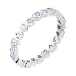 Серебряное кольцо с фианитами 000116365