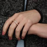 Серебряное кольцо Мари с шампаневыми фианитами