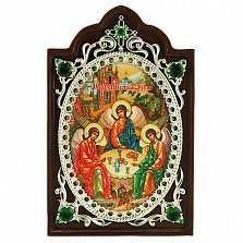 Серебряная икона Святая Троица