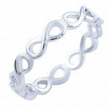 Кольцо из серебра Танец бесконечности