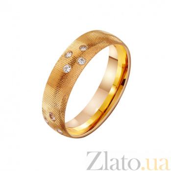 Золотое обручальное кольцо с цирконием Нежность TRF--412274