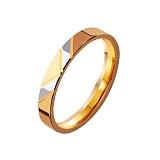 Золотое обручальное кольцо Победа
