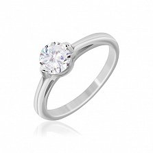 Серебряное кольцо Сиа с фианитом