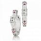 Серьги Argile с бриллиантами и розовыми сапфирами E-cjAr-W-4s-6d