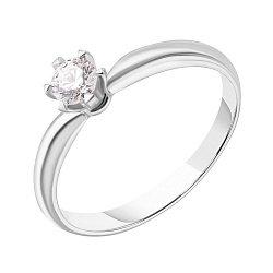 Кольцо из белого золота с бриллиантом, 0,25ct 000034715