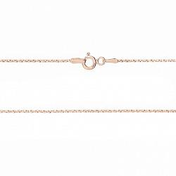 Серебряная цепочка Вилли с позолотой в венецианском плетении