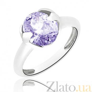 Серебряное кольцо Искушение с голубым цирконием 10000145