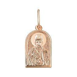 Ладанка из красного золота Николай Чудотворец 000141676