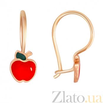 Серьги из красного золота Красное яблоко 21432