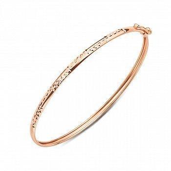 Браслет из красного золота с алмазной гранью, 3 мм 000106475