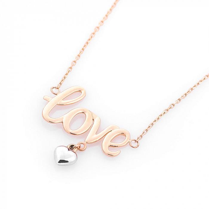 Колье из комбинированного золота Love 000082439