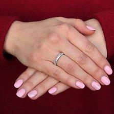 Кольцо из белого золота с фианитами Стиль
